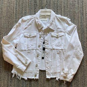 Bnwt Blank NYac white denim jacket